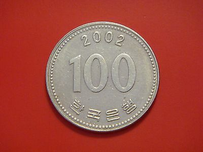 Korea-south 100 Won, 2002