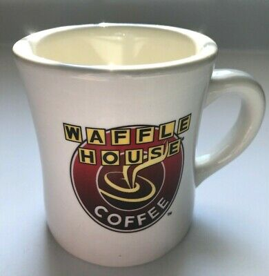 VTG Waffle House Coffee Mug Tuxton 06 Off White Thick Restaurant Ware EUC