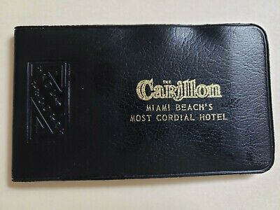 Vintage Carillon Hotel Miami Beach Florida Stock Records Cover Black