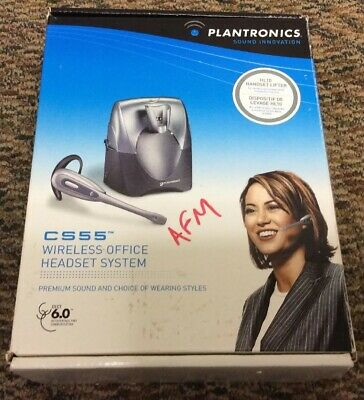 Plantronics Wireless Office Headset CS55 with HL10 Handset Lifter (used)