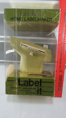 Vintage DYMO Home Label Maker 1968 Green  Model With Original Box 1705-00