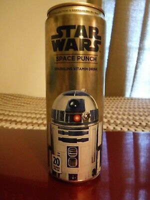 """Bottom opened # 8 Star Wars """"R2-D2"""" 12 oz. Space Punch Soda Pop Can movie Robot"""