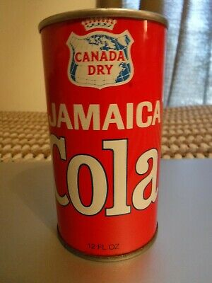 Canada Dry Jamaica Cola bottom opened steel can Soda Cola Advertisement POP