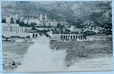 2 postcards of Cote d/'Azur Worn Nice and Monte Carlo postcards Unposted. likely 1960s vintage by L Gilletta