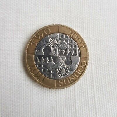 2007 Minting Error Act of Union 300 Anniversary Two  Pound Coin