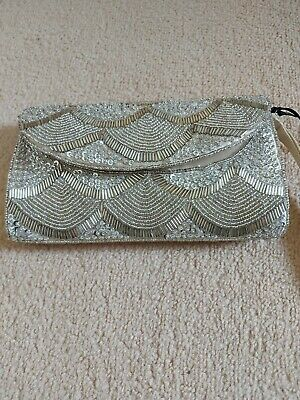 NEW Small Beaded Purse Wrist Bag Various Colours