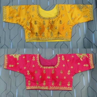 Sari Saree Blouse Red Indian Stitched Choli Belly Dance Readymade Top
