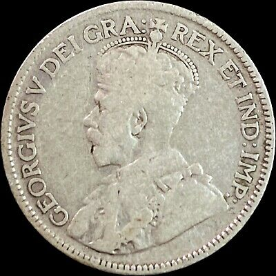 Canada Semi KEY DATE 1927 25 Cents Coin.Low Mintage-468096 Coins made.