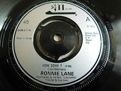 """Ronnie Lane How Come? 3 Track 7"""" Vinyl EP GM 1973 VG+ Condition."""