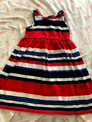 NWT Gymboree Star Spangled Summer July 4th Stripe Bow Dress Toddler girls 3T,5T
