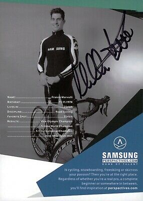 Autographed autograph card from Franco Marvulli - CYCLING