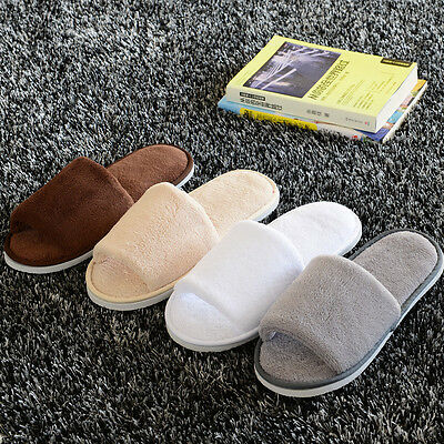 Unisex Coral Velvet Open Toe Spa Hotel Home Clubs Disposable Slippers