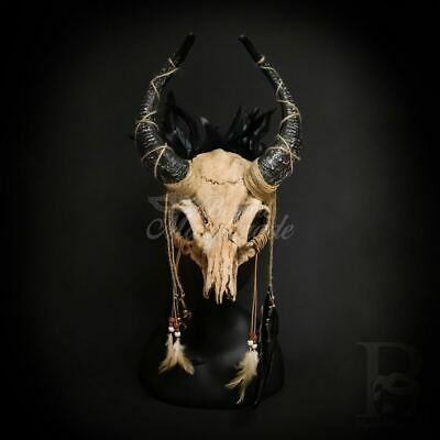 RAM Skull Mask Masquerade Ball In Natural Tones M39565 Halloween Costume Face Co