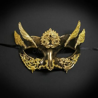 Medieval Masquerade Ball Mask Woman Black Gold M31131 Halloween Face Cos Costume