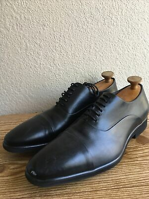 Giovanni Mens 6322 Waxy Leather Cap Toe Oxford Dress Shoes Black Sizes 8 M