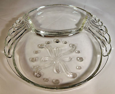 "Federal Glass Co. Columbia Crystal 6"" Diameter Snack Plate-Mint!"