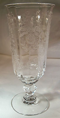 HEISEY ORCHID CRYSTAL #5025 5-OUNCE FTD JUICE TUMBLER!