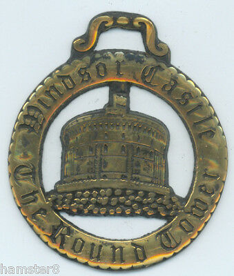 ROUND TOWER *LARGE*  Horse brass  (N875)