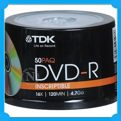 TDK 16x Speed 30 Pack DVD+R 4.7GB + BONUS Storage Cases