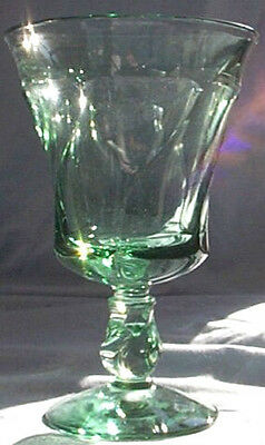 Fostoria Jamestown Green 10-Ounce Footed Water Goblet!