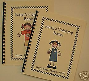 Stick Figure/People Coloring Book Great gift! Cute!!!