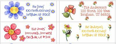 Flower Address Labels Personalized Very Cute!