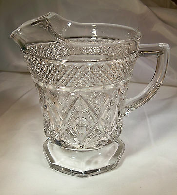 Imperial Glass Cape Cod Crystal 160/240 16-Ounce Footed Milk Pitcher!!