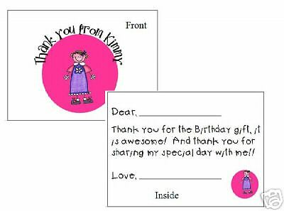 Stick Figure Thank You Note Cards Fill-In's  So cute!!!