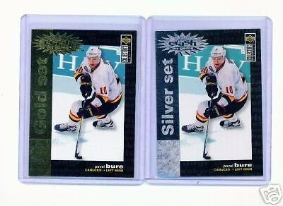 1995-96 Ud Cc Pavel Bure Crash Gold & Silver Cards #C1 ~ Multiples Available