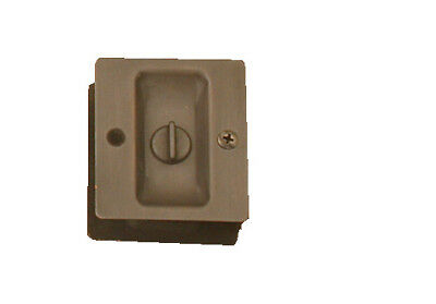 Oil Rubbed Bronze Privacy  sliding pocket door lock