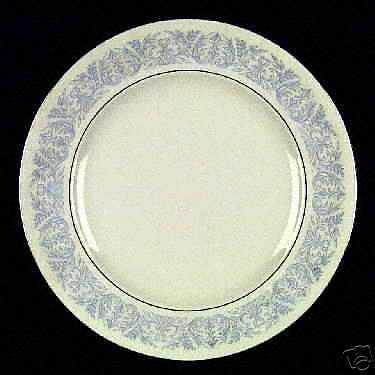 """Syracuse China """"Blue Riviera"""" bread & butter plates"""