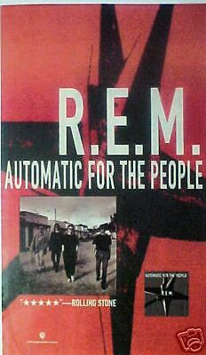 "92*R.E.M. ""Automatic For The People""Record/Album Art AD"