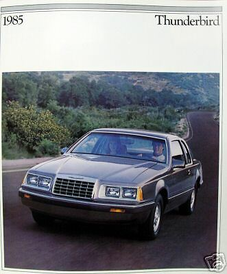 1985 Ford Thunderbird coupe new vehicle brochure