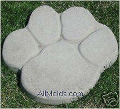 Paw Print concrete plaster cement stepping stone mold