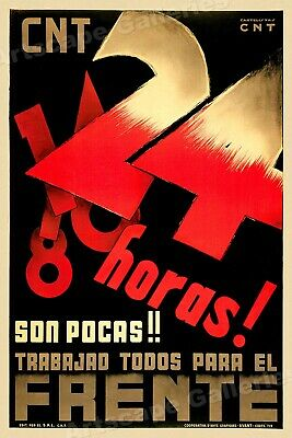 """24 Hours are Few!"" 1930s Spanish Civil War Poster - 24x36"