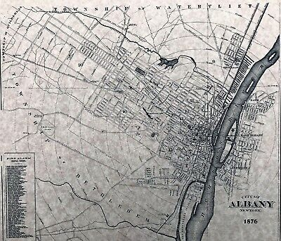 Albany, NY 1876  Detailed Street Map