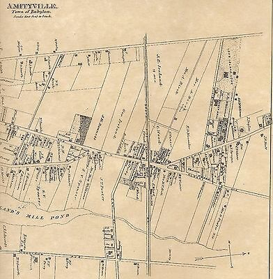 Amityville Babylon NY 1888 Maps with Homeowners Names Shown