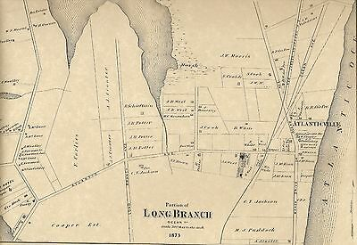 Longbranch NJ 1873  7 Maps with  Homeowners Names Shown