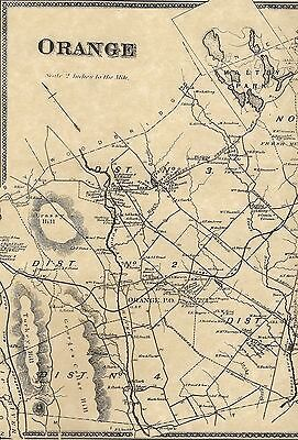 Orange CT 1868 Map with Homeowners Shown