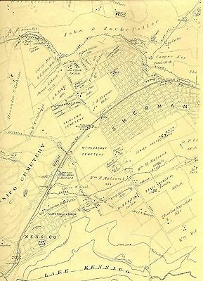 Pleasantville Thornwood Hawthorne Valhalla NY 1911  Maps  Homeowners Names Shown