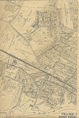Port Chester Lyon Park Fox Island NY 1910 Maps with Landowners Names Shown