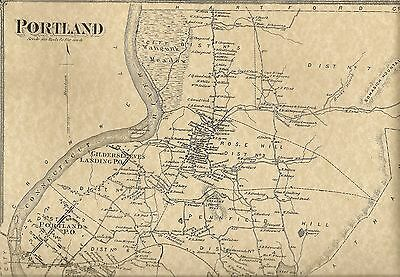 Portland Gildersleeve Riverdale CT 1874  Maps with Homeowners Names Shown