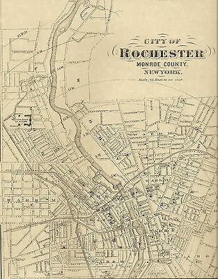 Rochester NY 1872 1904 1935 Detailed Street Maps