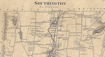 Southington Plantsville Marion Compounce CT 1869 Maps  Homeowners Names Shown