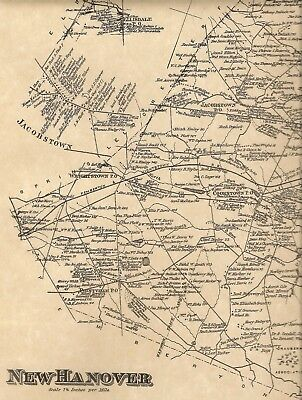 Wrightstown NJ 1876  Maps with Homeowners