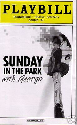 Sunday In The Park Broadway Opening Night Playbill