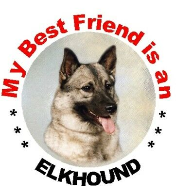 2 Elkhound Car Stickers - Starprint - Auto combined postage
