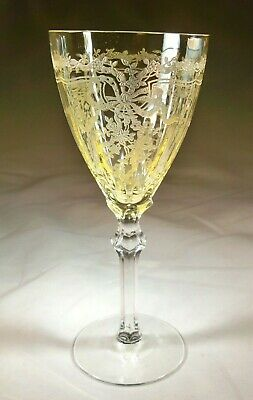 Fostoria June Yellow Rare 4-Ounce Claret Goblet!