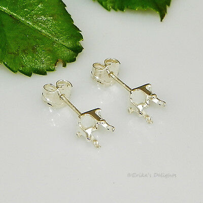 3mm SQUARE Snap Tite Sterling Silver Earring Settings