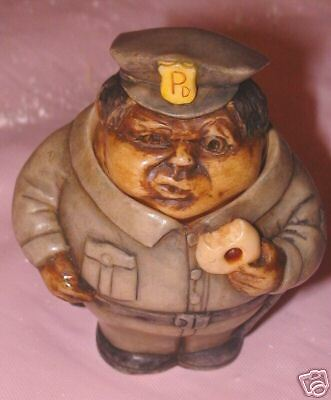 NIB Pot Belly Safe Guarder 2 Policeman Harmony Kingdom New